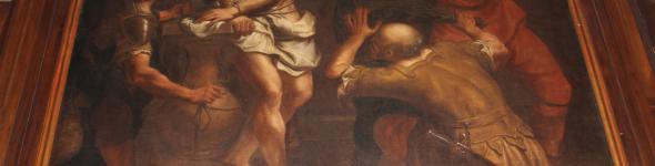 La Flagellazione di Cristo, tela di Bartolomeo Letterini nel duomo di San Lorenzo ad Abano Terme