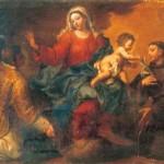 Vierge à l'Enfant entre saint Laurent et saint Antoine, Bartolomeo Letterini, oil on canvas, size: 38.6 x 59.4 in. /98 x 151 cm. Year: 1712 - Misc.: Signed Sale Of: Piasa: Friday, December 16, 2005 [Lot 11] Tableaux Anciens