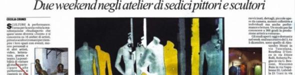 La Repubblica: Studi aperti, quando l'arte fa zoom di Cecilia Cirinei
