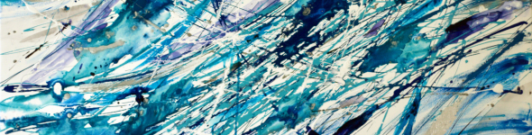 Traiettorie di particelle atomiche in blu