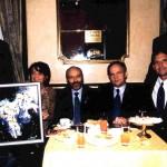 1° World Astronaut Forum, da destra: Jerry LINENGER – Anatoli SOLOVIOV – Franco MALERBA – Raffaella LOSAPIO – Valery TOKAREV (Milano 23-24/11/2000)