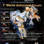 1° World Astronaut Forum, Poster della manifestazione con illustrazione da un dipinto su tela di Raffaella Losapio (Milano 23-24/11/2000)