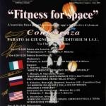 Fitness for space (Milano 16 giugno 2001), Poster della manifestazione con illustrazione da un dipinto su tela di Raffaella Losapio