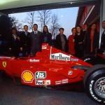 Dopo la Mir Celebration (23 Febbraio 2001), successiva visita con i cosmonauti Vasili TSIBLIEV, Alexandr VIKTORENKO allo stabilimento Ferrari di Maranello (MO)