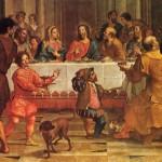 Le Nozze di Cana in Galilea (parte centrale con Gesù)