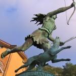 Diana, scultura in piazza_Nemi