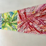 Particelle, Raffaella Losapio 2017, trittico cm 70x300